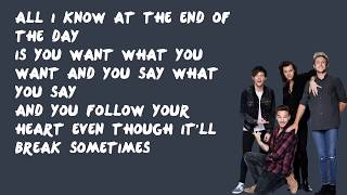 End of the Day - One Direction (Lyrics)