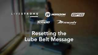 Treadmill Reset the Lube Belt Message