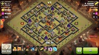 Clash of Clans TH10vsTH10 Lava Hound, Balloon & Minion (Lavaloonion) (No BK) Clan War 3 Star Attack