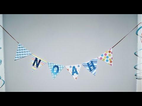 DIY kids party ideas | DIY Birthday BANNER | Sugarella Sweets Party