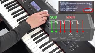 """""""Using the SUB OUT Jacks"""" Roland RD-2000 #14"""