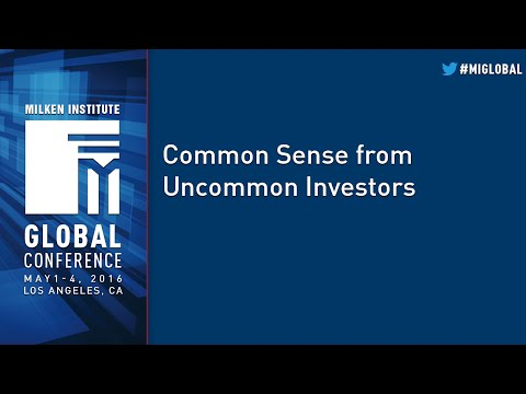 Common Sense from Uncommon Investors