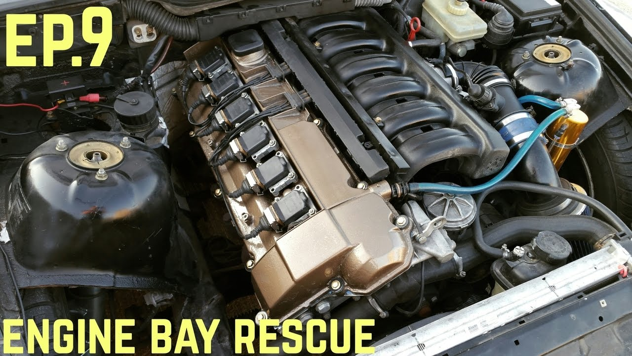 Engine Bay Touch Up Bmw E36 325i Quot Sharkcar Quot Drift Build