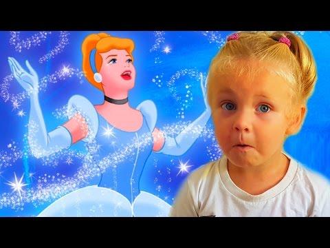ЗОЛУШКА игра - сказка как мультик для девочек. Принцессы Диснея.