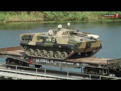 В Волжском в районе речного порта прошли военные учения