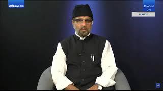 Intervention de Ameer saheb pendant la diffusion spécial Jalsa UK 2020.
