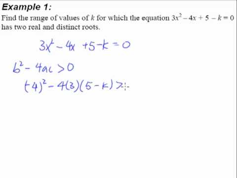2. Quadratic Equations and Inequalities - Example 1 (2 Real and ...