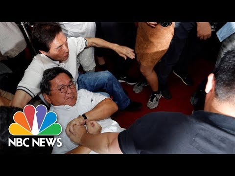 Taiwan Lawmakers Brawl as Budget Meeting Gets Out of Hand | NBC News