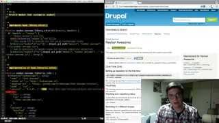 Writing a patch for a Drupal project.