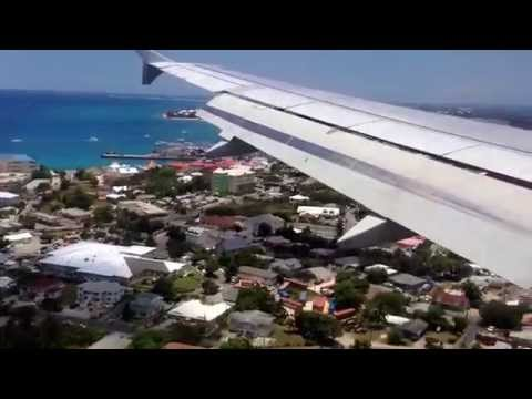 Arriving George Town airport in Grand Cayman