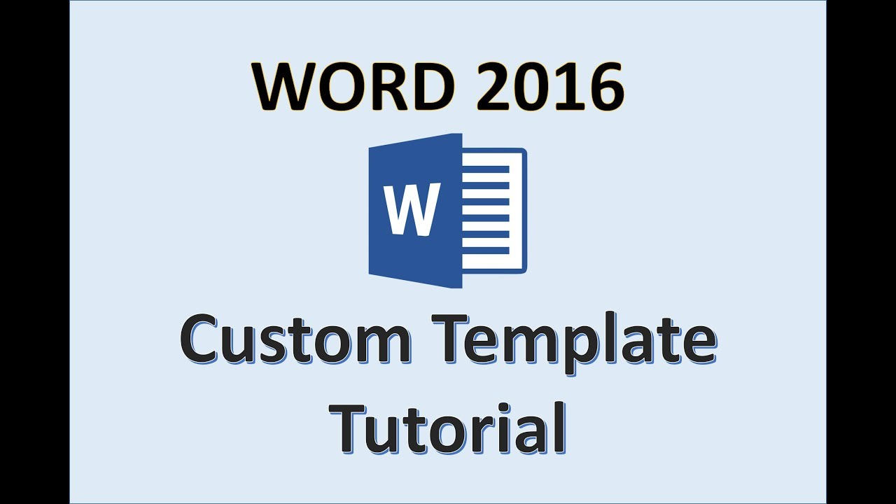 word 2016 - creating templates