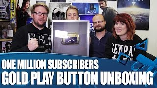 One Million Subscribers Gold Play Button Unboxing - Thank You!