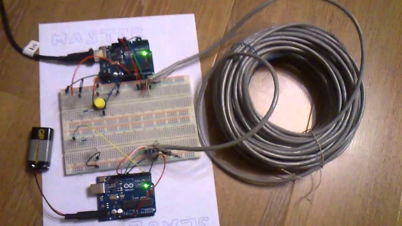 Arduino+Arduino (long cable) - YouTube