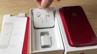 Apple iPhone 7 128GB PRODUCT(RED) iOS Smartphone AT&T 4G LTE Unboxing 6-2-17