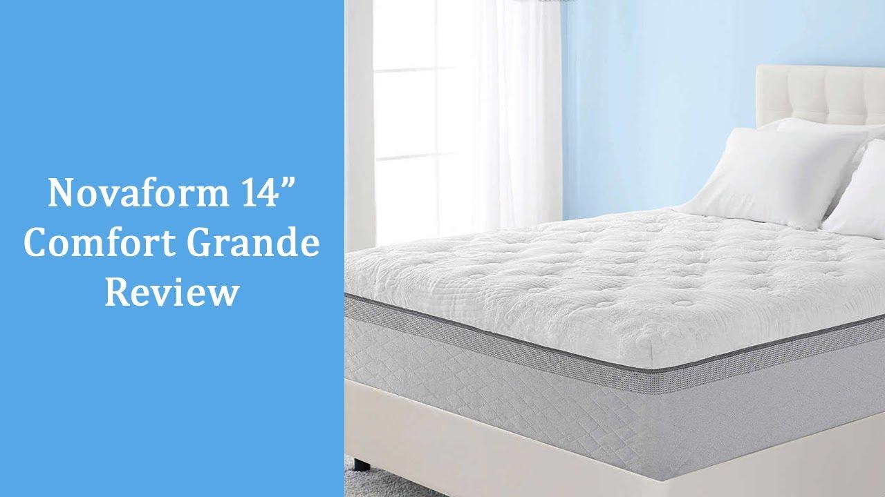 novaform 14 comfort grande queen gel memory foam mattress. novaform comfort grande review: 14 inch queen memory foam mattress gel \