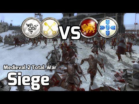 Medieval 2 Total War Online Battles #229 (2v2 Siege) - Siege in the North