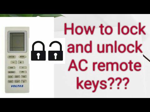 How to lock and unlock Voltas AC remote? Lock keys of AC remote Split AC  remote lock and unlock
