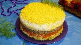"Салат ""Мимоза"" с сыром"