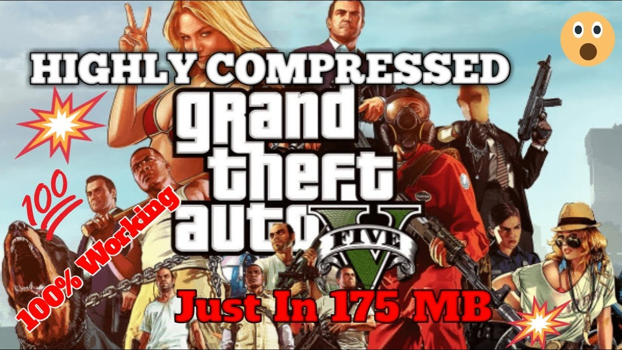 How to Download GTA 5 Highly Compressed For PC Just In 175