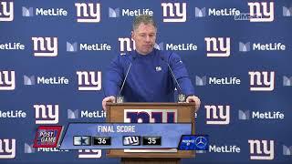 Pat Shurmur Reflects on 5-11 Season & How Giants Grew | New York Giants Post Game