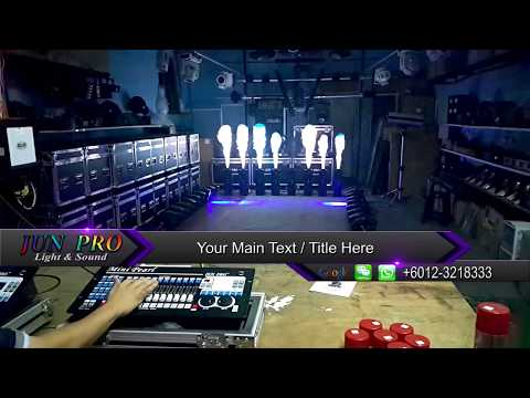 JUN PRO Mini Pearl DMX controller with Fire Machine Stage Effect #stage lighting#malaysia