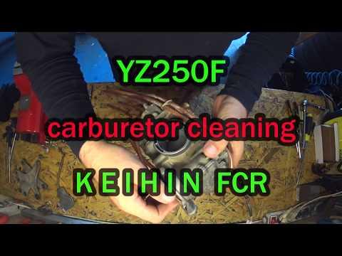 YZ250F carburetor cleaning 4T KEIHIN FCR