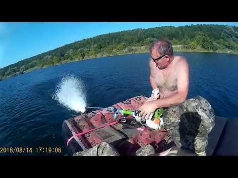 Лодочный двигатель из турбокомпрессора - Смешные видео приколы