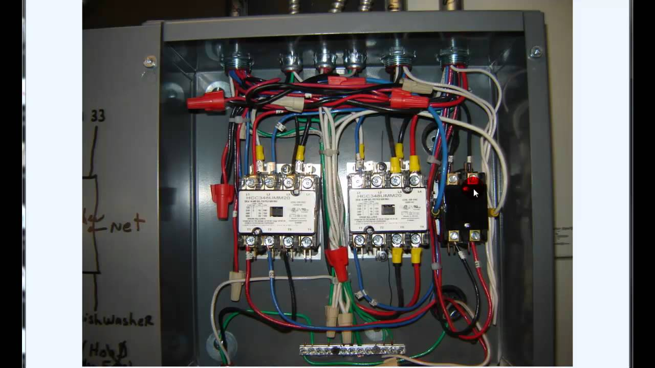 Wiring 3 Pole Isolator Switch Diagrams For Dummies Triple Light Diagram How To Wire A Electrical Fire Control Box Youtube 2