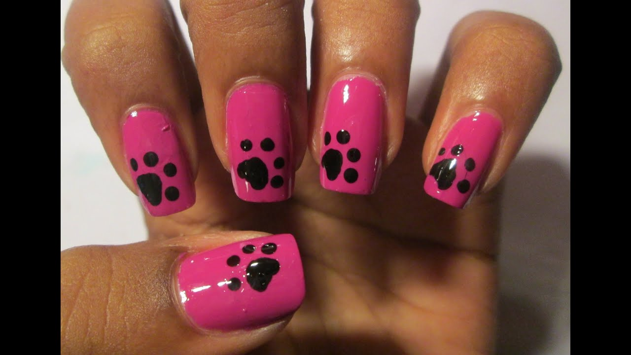 Dog Paws Nails Art Youtube