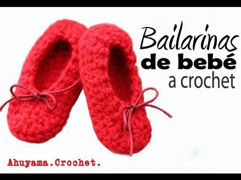 Bailarinas para Bebé a Crochet - Paso a Paso - YouTube