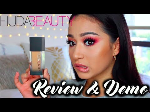 HUDA BEAUTY FAUXFILTER FOUNDATION  & DEMO