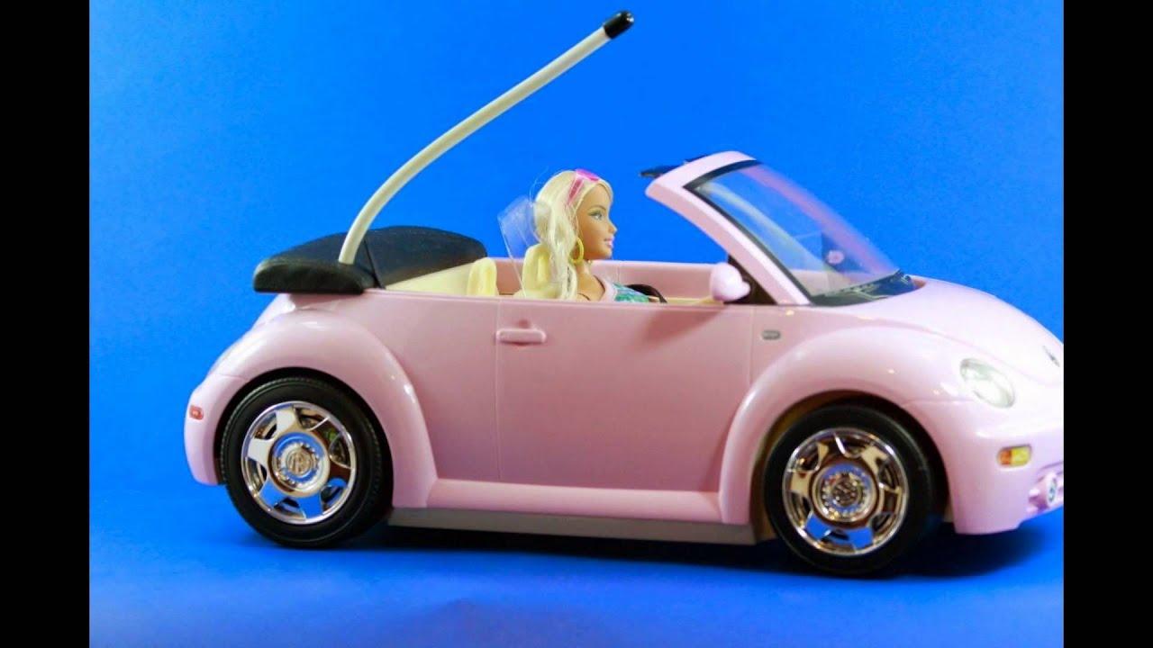 Pink Beetle Convertible >> Beach Glam Barbie Beetle Radio Shack Vw Pink Car with Dol - YouTube