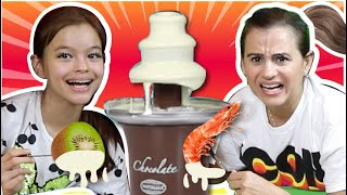 CHOCOLATE VS COMIDA DE VERDADE!!! Fique em Casa Comigo!!!