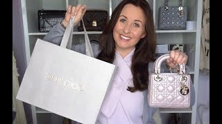 Mini Lady Dior Review and Jimmy Choo Unboxing