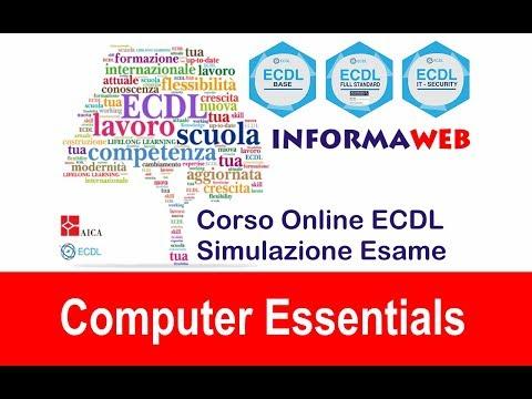 Simulazioni Esami Nuova ECDL Modulo 1 Computer Essential Windows Tutorial Simulatore AICA