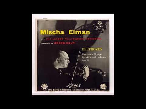 "Beethoven ""Violin Concerto"" Misha Elman/Georg Solti"