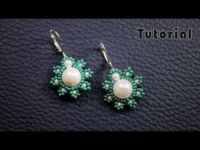 Pearl beaded earrings || Diy earrings || Quick & Easy to make beaded Earrings