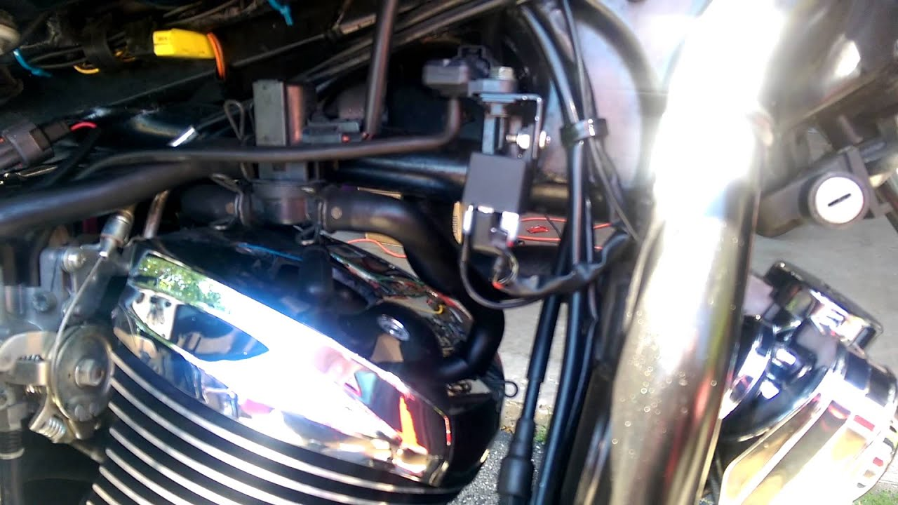 Wolo Bad Boy Horn Install On Vn900 Custom Youtube Kawasaki Vulcan 900 Wiring Diagram For A Motorcycle