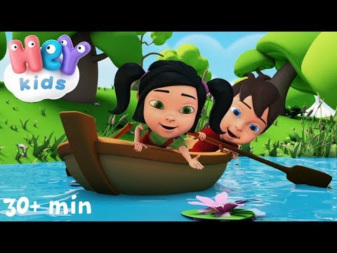 Row Row Row Your Boat - Nursery Rhymes collection with lyrics by HeyKids