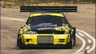1400Hp Skyline R32 Vs 1100Hp GT-R R35 // Nissan Monster Showdown - Knysna Simola 2017