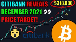 Bitcoin Going Parabolic! Citibank Predicts $318k By December 2021! That Would Be A 20x Increase!