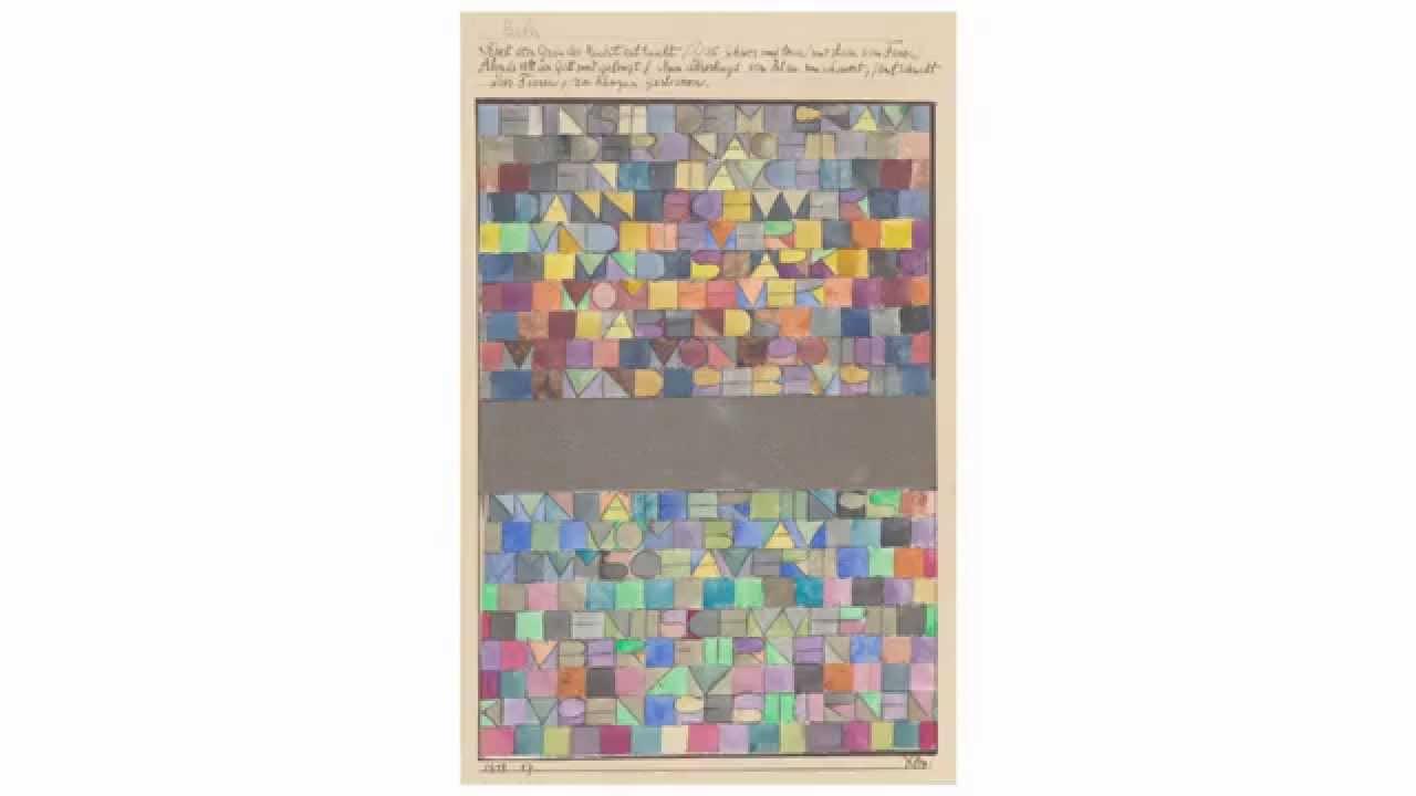Paul Klee Einst Dem Grau Der Nacht Enttaucht 1918