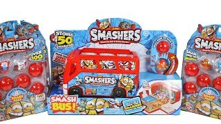 Zuru Smashers Series 1 Sports Smash Bus and Smash 8 Packs Blind Box Unboxing Toy Review
