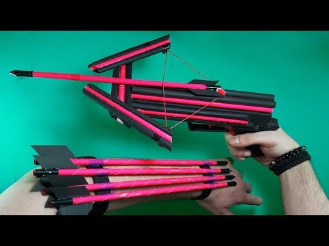 How To Make A Paper CROSSBOW   NEW MODEL   TOY WEAPONS