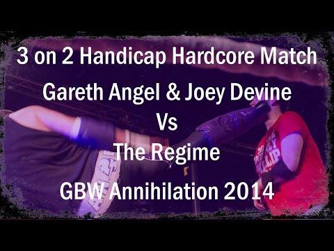 Gareth Angel & Joey Devine vs The Regime - 3 on 2 Hardcore Handicap Match