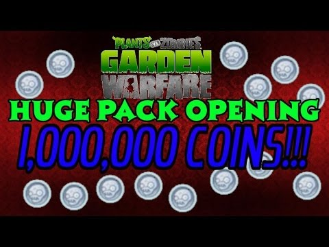 Plants vs Zombies Garden Warfare - HUGE PACK OPENING! - 1 Million Coins (1K SUBSCRIBER VIDEO)