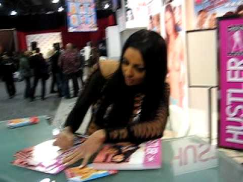 Audrey Bitoni @ AEE 2010 clip 1