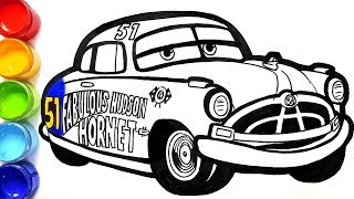 How to draw Doc Hudson Hornet CARS 3 painting for kids drawing coloring pages Tim Tim TV