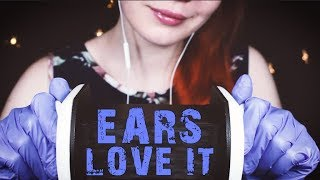 INTENSE ASMR Sticky Gloves on Your Ears - Ear Rubbing, Cupping, No Talking