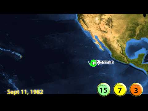 1982 East Pacific Hurricane Season Animation